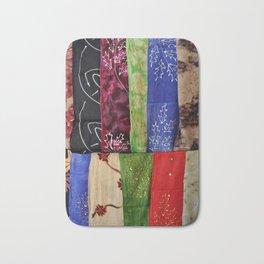 Colorful Scarves Bath Mat