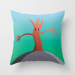 Living Tree On Hill Throw Pillow