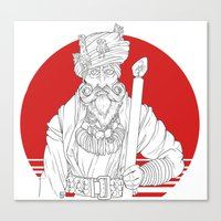 wizard Canvas Prints featuring Wizard by Cody Barnhill