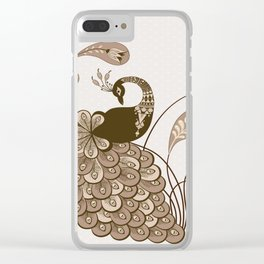 Art Peacock V5 Clear iPhone Case