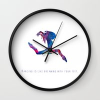 dancer Wall Clocks featuring Dancer  by ShaMiLa