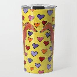 Greyhound hearts Travel Mug