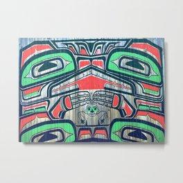 Alaskan Art - Man and Birds Metal Print