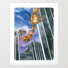 Moonbot #4: Orange Art Print