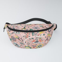 BOHO Chintz (Coral Pink) Fanny Pack