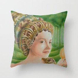 """Portrait in the forest"" (notebook) Throw Pillow"