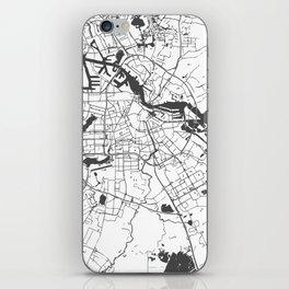 Amsterdam White on Gray Street Map iPhone Skin