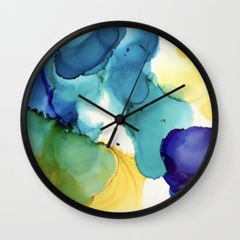 Alcohol Ink Wall Clock
