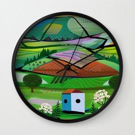 Tea Plantation Wall Clock