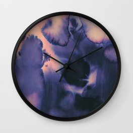 water color wave II collab Dylan Silva Wall Clock