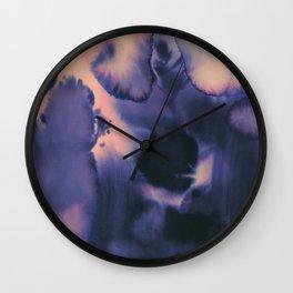 water color wave II collab Dylan Silva Wall Clock