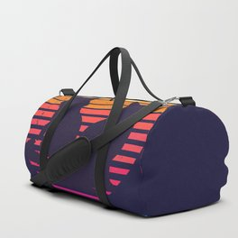 Cats Retro Synthwave Sunset Together Forever Duffle Bag
