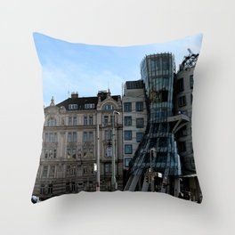 The Dancing House in Prague by Frank Grehry Throw Pillow