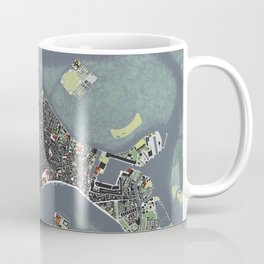 Venice city map engraving Coffee Mug