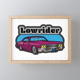 Lowrider Car Framed Mini Art Print