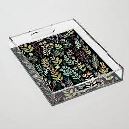 Dark Botanic Acrylic Tray