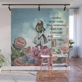 Wondering Alice - Alice In Wonderland Quote Wall Mural