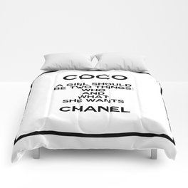coco quote no. 5 Comforters