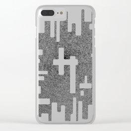 Digital Splash Clear iPhone Case