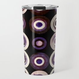 modern mid century, Graphic art, neutral colors, geometric art, circles, modern painting, absract Travel Mug