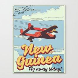 New Guinea adventure poster Canvas Print