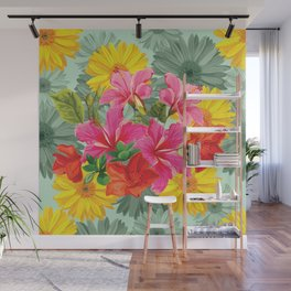 Vibrant Hawaiian Bouquet Wall Mural