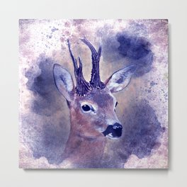 roebuck painting on watercolor -01- Metal Print