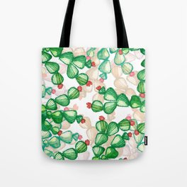cactus with a red flowers Tote Bag