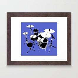 Drumkit Silhouette (backview) Framed Art Print