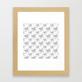 White Horse Pattern Framed Art Print