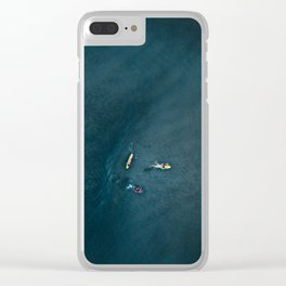 Surfers from Above Clear iPhone Case