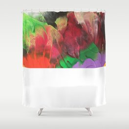 Fragment of abstract heavy texture Shower Curtain