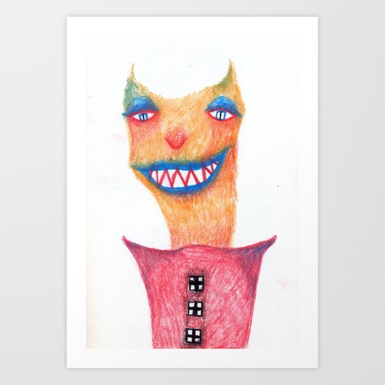Smart Devil Art Print
