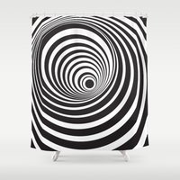 vertigo Shower Curtains featuring Vertigo by General Design Studio