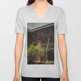 Architecture of Kathmandu City 001 Unisex V-Neck
