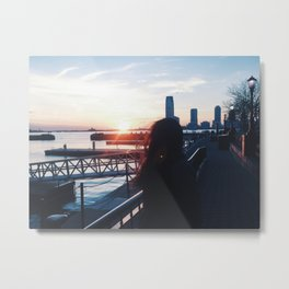 Night Sun Metal Print