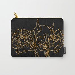 Hannya and Peonies Carry-All Pouch