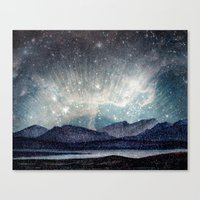 northern lights Canvas Prints featuring Northern lights by LisaB