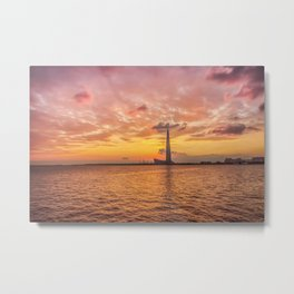Sunset over Lakhta Center Metal Print