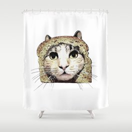 CatBread Shower Curtain