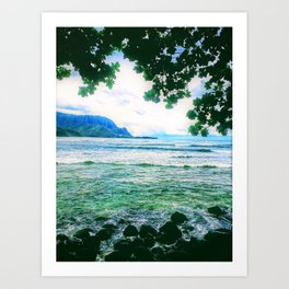 Love Hanalei Forever by Reay of Light Art Print