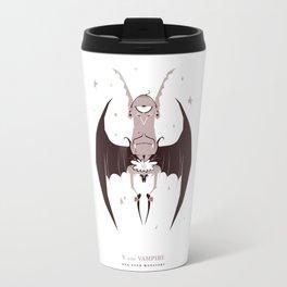 V is for Vampire Travel Mug