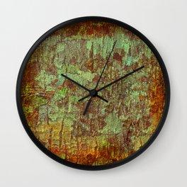 Textured Bark Wall Clock