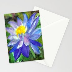 Blue Violet Lotus flower Stationery Cards