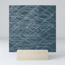 Abstract geometric background Mini Art Print