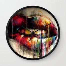 Lip Biter Wall Clock