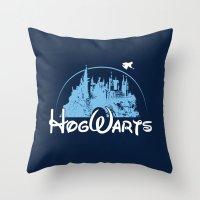 hogwarts Throw Pillows featuring HOGWARTS by Bilqis