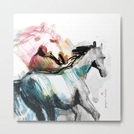 Horses (Mom&kid fragment) Metal Print