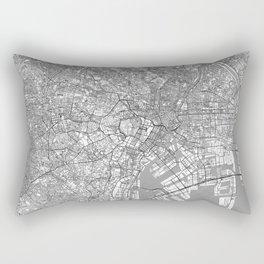 Tokyo Map Line Rectangular Pillow