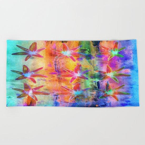 Colorful Lilies Beach Towel